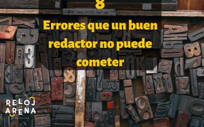 8 errores que un buen redactor no puede cometer